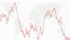 linje för graf för prick för affärsdiagram Royaltyfri Foto