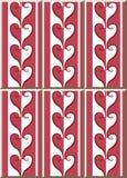 Linje för hjärta för kors för kurva för spiral för förälskelse för modell för keramisk tegelplatta röd stock illustrationer