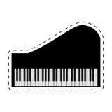 linje för instrument för pianotangentbord prucken musik Arkivfoto
