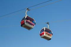 Linje för luft för emirater för Themsenkabelbil Fotografering för Bildbyråer