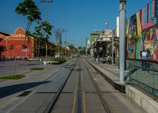 Linje 1 för Parada DOS Navios VLT royaltyfria foton