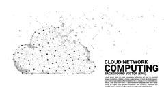 Linje för polygon för begrepp för molnberäkningsnätverk förbindelseprick stock illustrationer