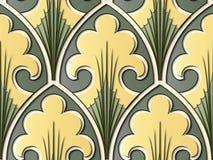 Linje för ram för blad för kors för kurva för modell för färgrik lättnadsskulptur sömlös stock illustrationer