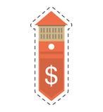 linje för snitt för värde för kostnader för fastighetbyggnadspris vektor illustrationer
