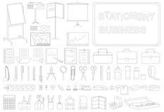 Linje för symbolsaffärsbrevpapper vektor illustrationer