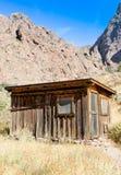 Linje för tappningcowboystaket kabin #3 Arkivfoton