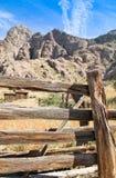 Linje för tappningcowboystaket kabin #4 Arkivbild