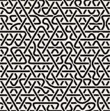 Linje föreningspunktmodell för sömlös svartvit triangel för vektor överlappande Arkivbilder