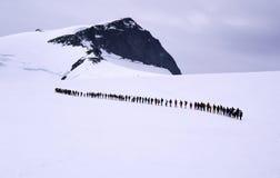 linje folk Arkivfoto