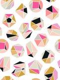 Linje formkristallgeometri Diamantdesign Alkemi, religion, filosofi, andlighet, hipstersymboler och beståndsdelar stock illustrationer