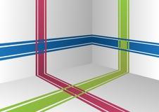 Linje Interior stock illustrationer