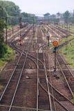linje järnväg Royaltyfria Bilder