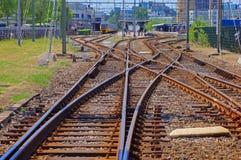 linje järnväg royaltyfri foto