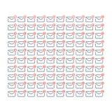 Linje konst 1 till 100 upp meddelande- och postsymbolsuppsättning vektor illustrationer