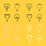 Linje lampa Royaltyfria Bilder
