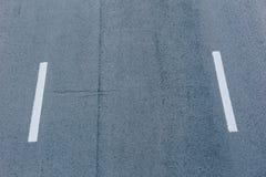 Linje markering på vägtexturbakgrund Fotografering för Bildbyråer