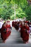 linje monksmyanmar noviser Royaltyfria Foton