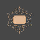 Linje monogram mallmonogram Lyxig monogram Arkivfoton