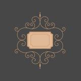 Linje monogram mallmonogram Lyxig monogram Fotografering för Bildbyråer