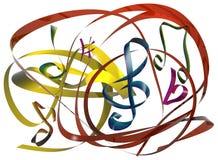linje musik royaltyfri illustrationer