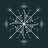 Linje navigeringstjärna vektor illustrationer