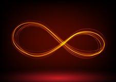Linje oändlighetssymbol också vektor för coreldrawillustration Royaltyfri Fotografi