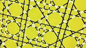 Linje- och gulingtegelplattabakgrund arkivbild