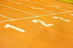 linje orange starta för racecourse Arkivfoton
