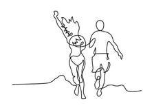 Linje parspring stock illustrationer