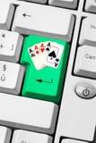 linje poker royaltyfri fotografi