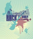 linje rock Royaltyfri Fotografi