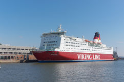 linje ship viking Royaltyfri Bild