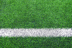 Linje sidor av konstgjord gräsfotboll & x28; soccer& x29; fält royaltyfri foto