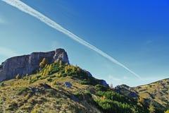 linje sky Arkivbild