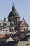 linje sky för 2 krakow Arkivbild