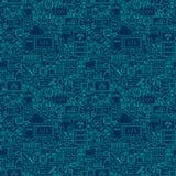 Linje som programmerar den mörka sömlösa modellen vektor illustrationer