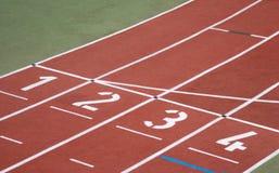 linje spår för running start Royaltyfri Bild