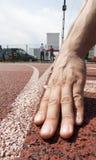 linje starta för löpare Fotografering för Bildbyråer