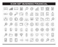 Linje stil för fastställd affär för symbol finansiell vektor illustrationer