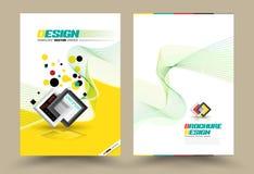 Linje stil för mall för orientering för design för vektorbroschyrreklamblad stock illustrationer
