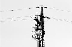 linje strömarbetare fotografering för bildbyråer