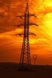 linje strömsolnedgång arkivfoto