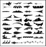 LINJE SYMBLE, SYMBOL, VEKTOR, ILLUSTRATÖR royaltyfri illustrationer