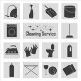 Linje symbol av lokalvårdservice för rengöringsdukbaner, webbplatser, infographics Royaltyfria Foton