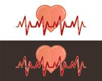 Linje symbol för hjärtatakt Fotografering för Bildbyråer