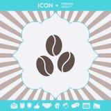 Linje symbol för kaffebönor Grafiska beståndsdelar för din design royaltyfria foton