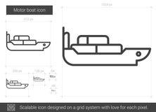 Linje symbol för motoriskt fartyg vektor illustrationer