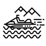 Linje symbol för vattenaktivitet royaltyfri illustrationer