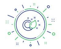 Linje symbol f?r m?larf?rgborste Kreativitettecken vektor stock illustrationer