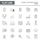 Linje symboler royaltyfri illustrationer